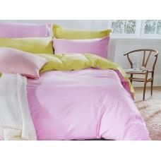 Постельное белье Сатин Дения - Розовый/Желтый